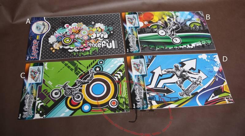 Samolepící dekorace na notebook Popis: Samolepka A