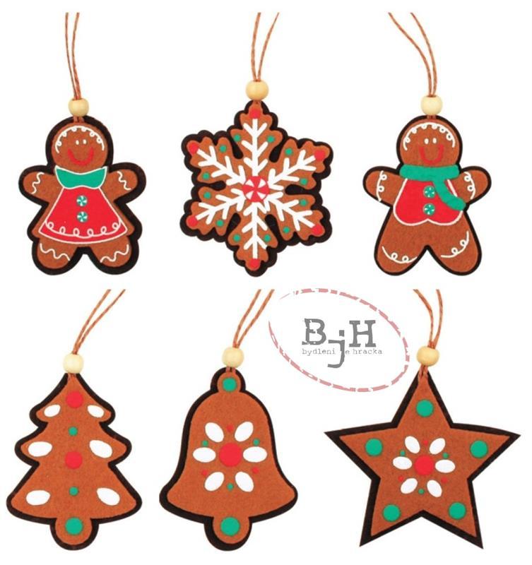 Vánoční ozdoby perníčky