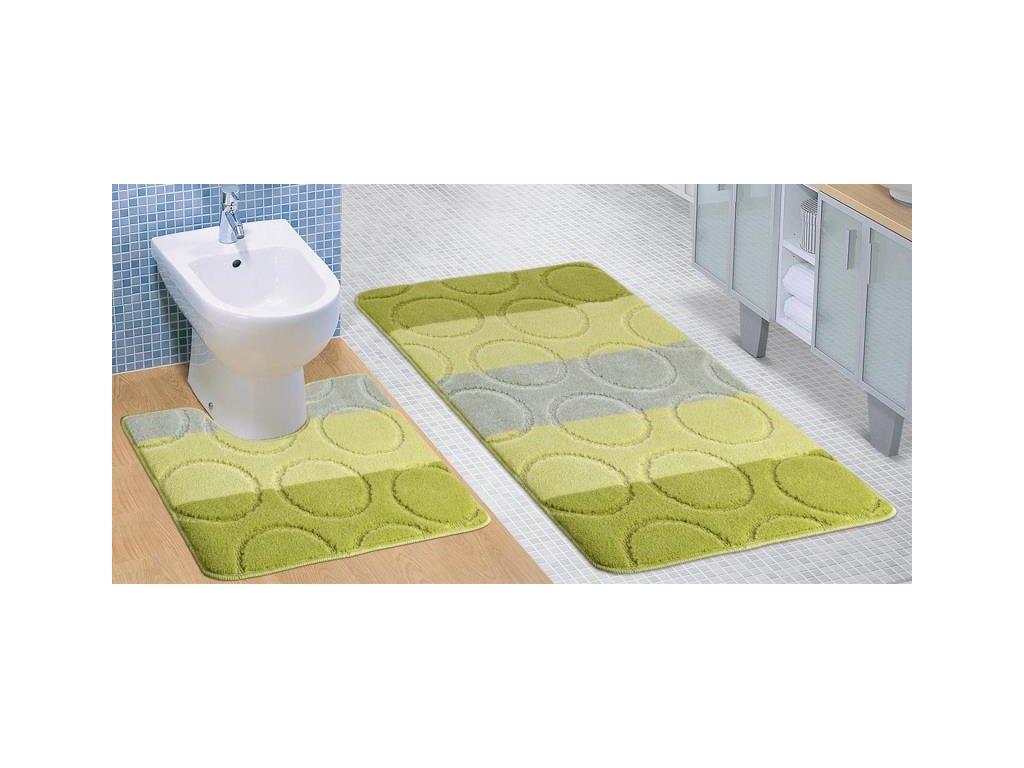 10133 1 bellatex sada avangard 60x100 60x50 cm krouzky zelene