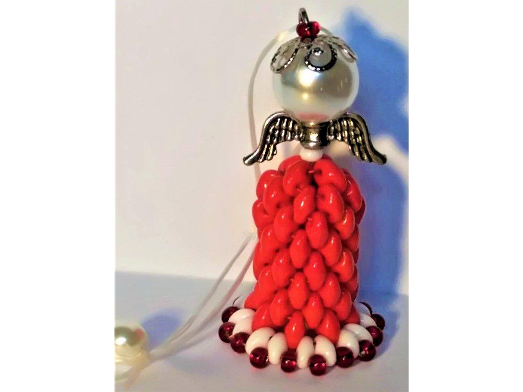 22178 dekorativni sity andelicek pro stesti cervenobily