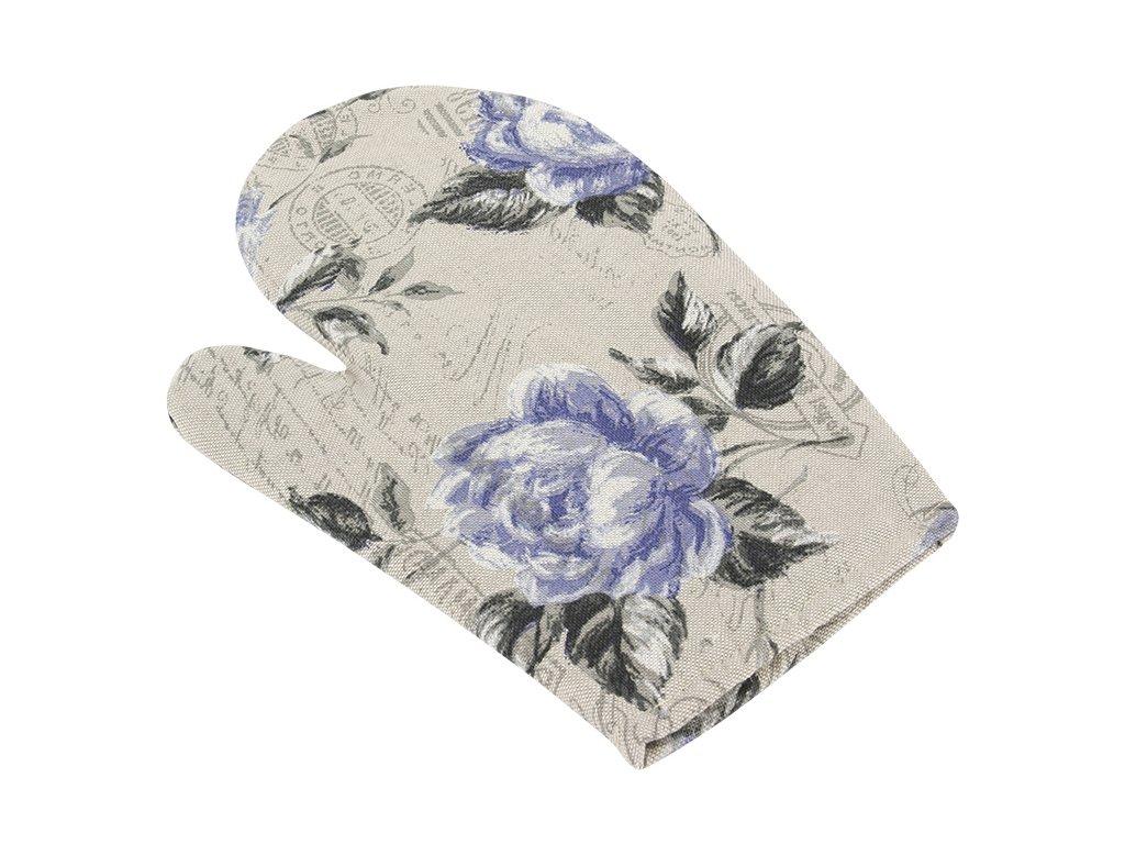 Bellatex Kuchyňská chňapka fialová růže s razítkem