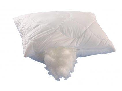 Polštář Luxus plus 70x90cm 700g se zipem kuličky UNICO, Barva: Bílá