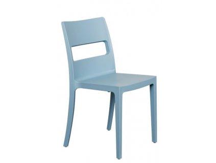 Židle plastová do interiéru i do zahrady SAI Z700 červená