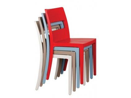 židle plastová sai modrá světlá 0