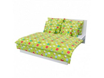 31283 detske povlak na polstar bavlna mracky zelene ls333 40x40
