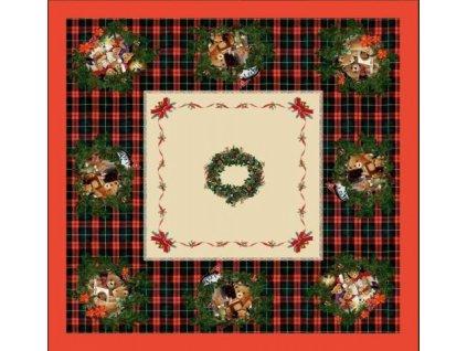 Stanex Ubrus bavlněný Vánoce Ubrus bavlněný Vánoce 144x144