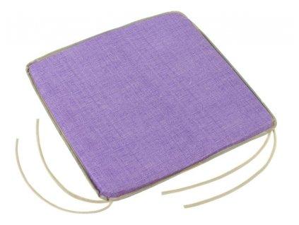 59888 bellatex sedak adela hladky 40x40 cm fialova uni
