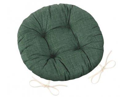 Sedák Adéla prošívaný kulatý průměr 40 cm Uni tmavě zelená