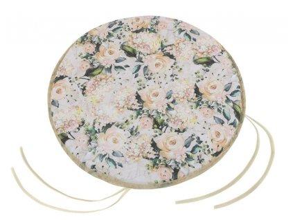 Sedák EMA kulatý hladký průměr 40 cm vanilková růže