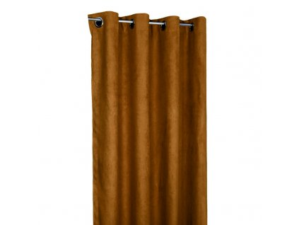 89894 forbyt hotovy zaves s krouzky suedine camel 140 x 240 cm