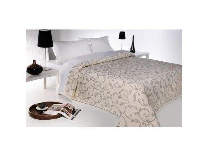 Přehoz na postel, Lis, béžová 140 x 220 cm (Barva béžovošedá, Velikost 240 x 260 cm)