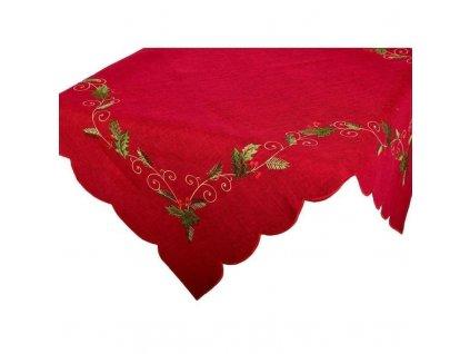 Ubrus vánoční Jmelí bordové, výběr rozměru (Velikost 35 x 70 cm)