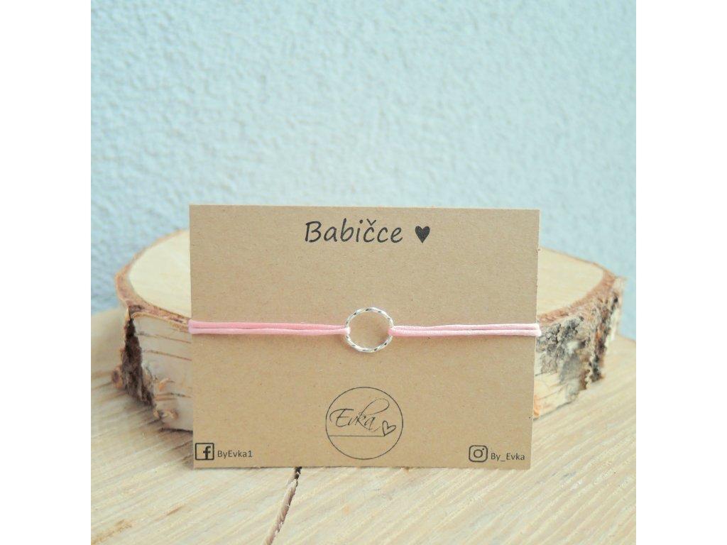 Karmička - kroucený kroužek ze stříbra / pozlacené stříbro / rose gold