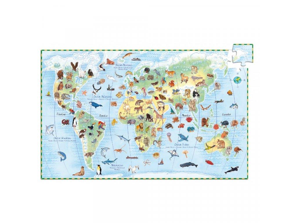 Obrázkové puzzle Světová zvířata