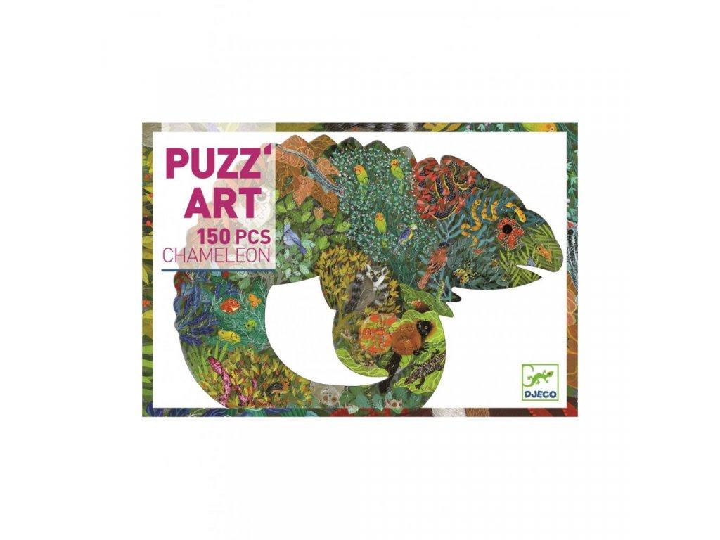 Umělecké puzzle Chameleon - 150 dílků