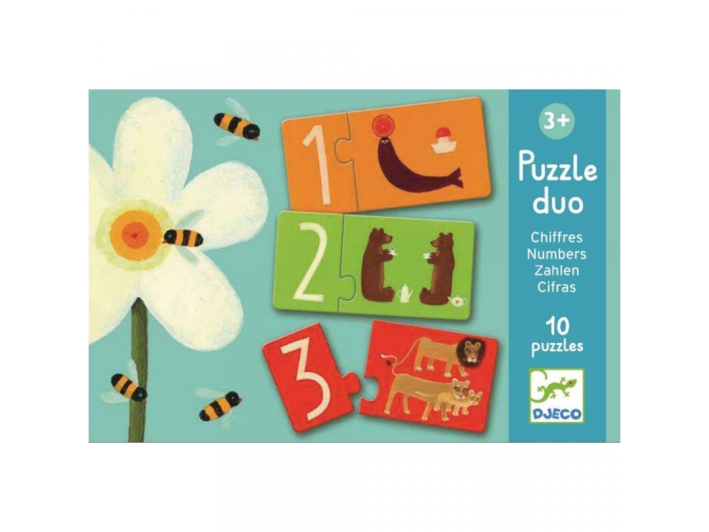 Duo puzzle čísla