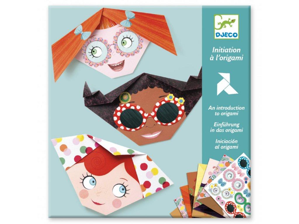 Origami dívčí obličeje