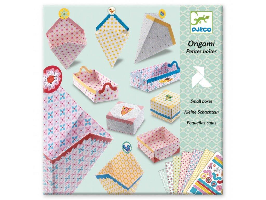 Origami skládačka Krabičky