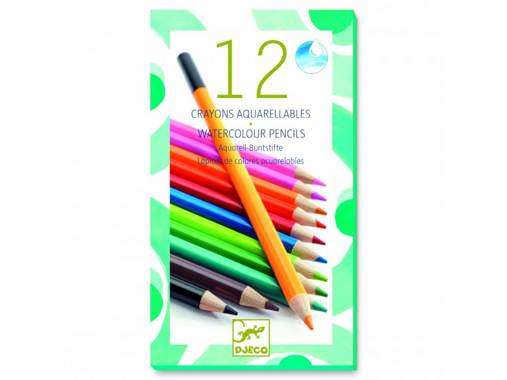12 aquarelových pastelek