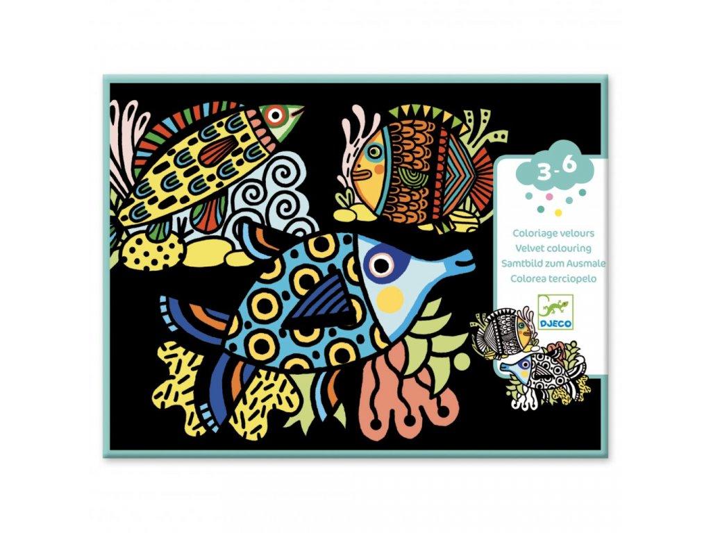 Sametové malování veselé rybky