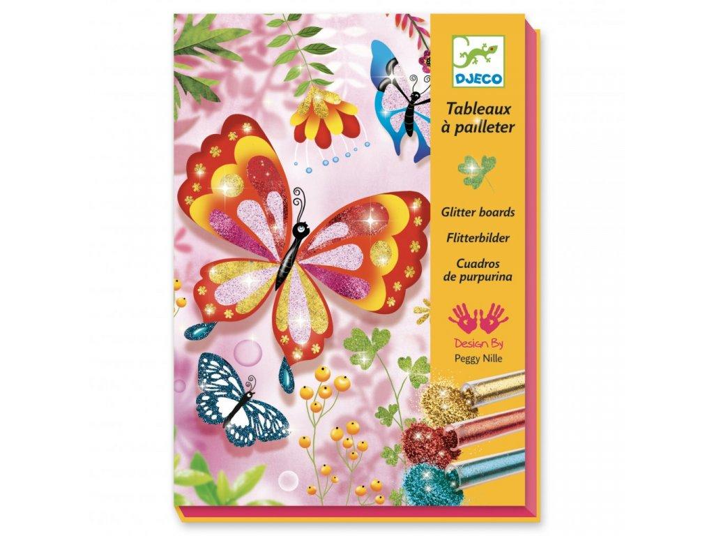Pískování Třpytiví motýlci