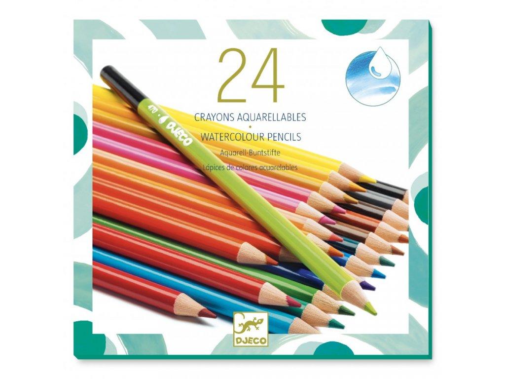 Sada 24 akvarelových pastelek