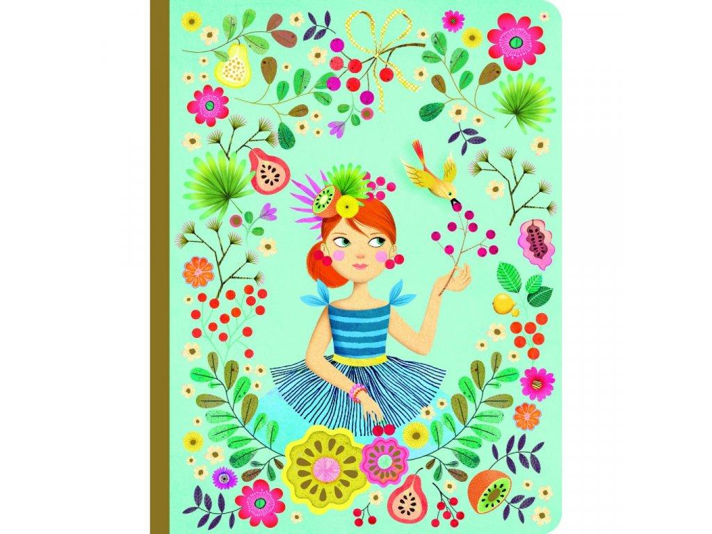 Krásný designový zápisník Rose