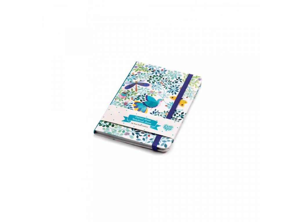 Krásný designový zápisník Anna s gumičkou