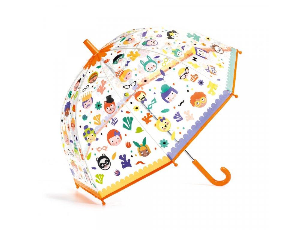 Krásný designový deštník Obličeje