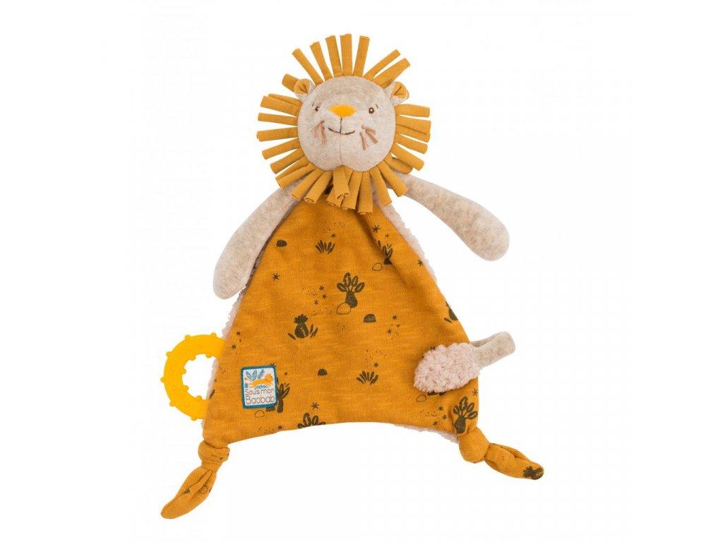 Mazlící šáteček s kousátkem Lvíček