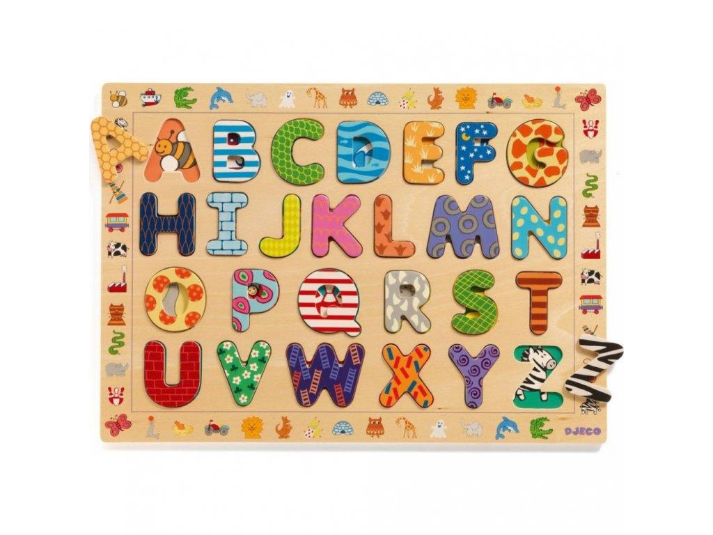 Vkládací puzzle abeceda se zvířátky