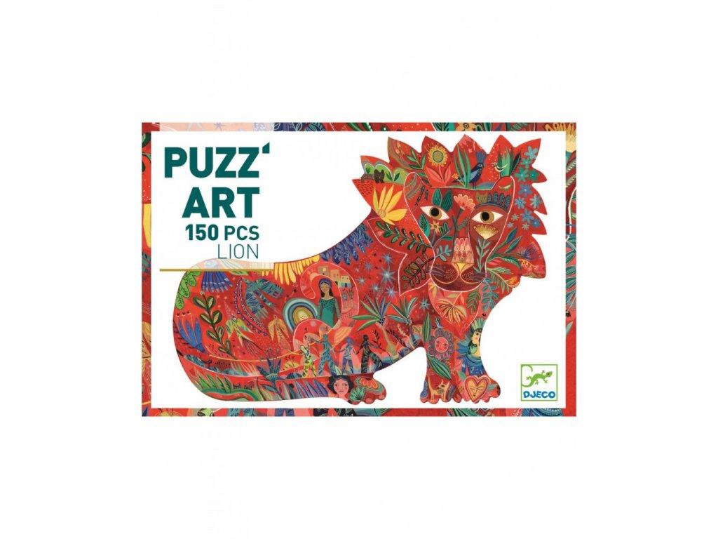 Umělecké puzzle Lev - 150 dílků