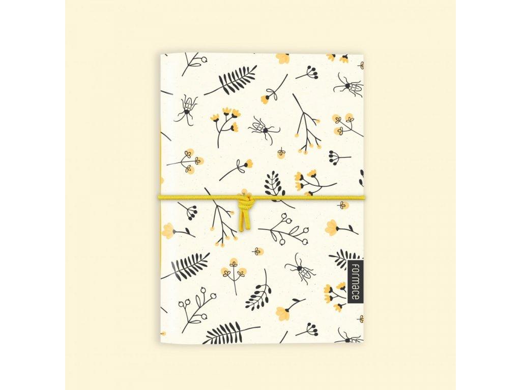 Zápisník s broukem - žlutý