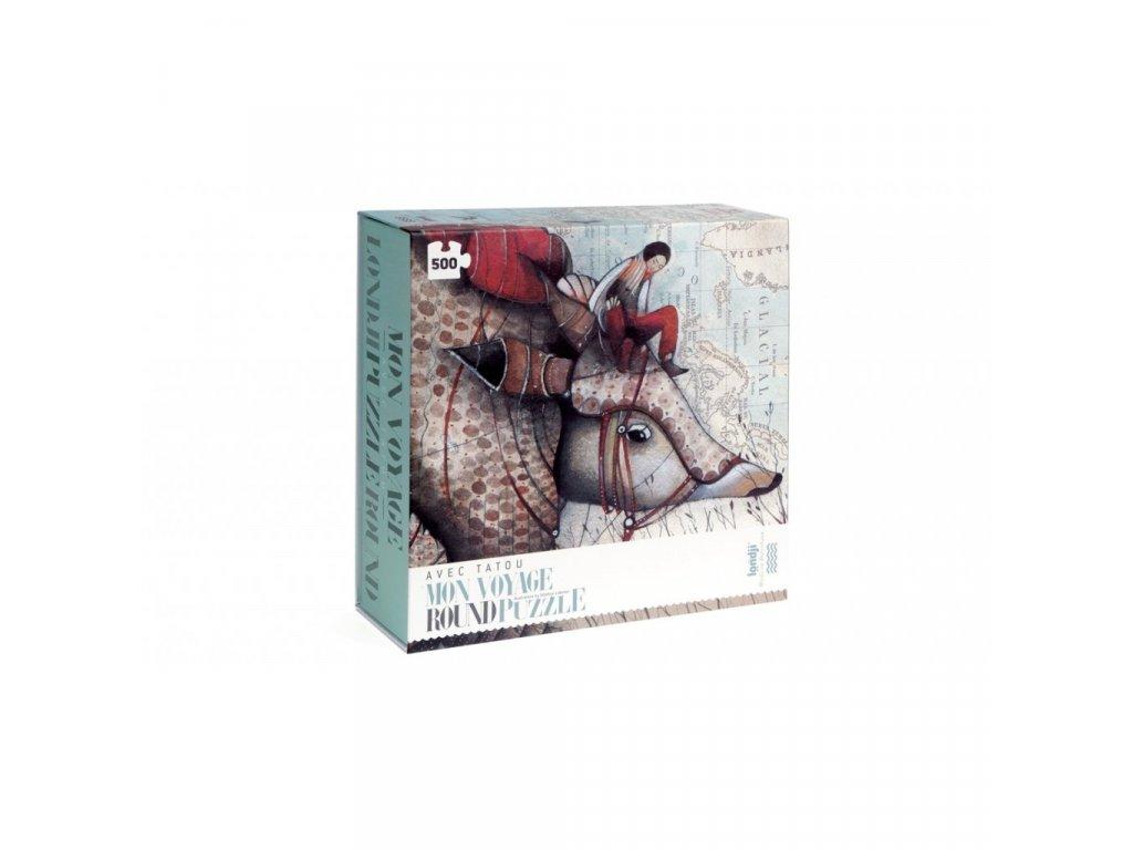 Puzzle Dobrodružství cestovatele - 500 dílků