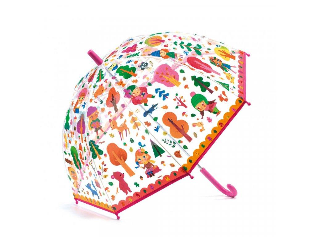 Krásný designový deštník Les