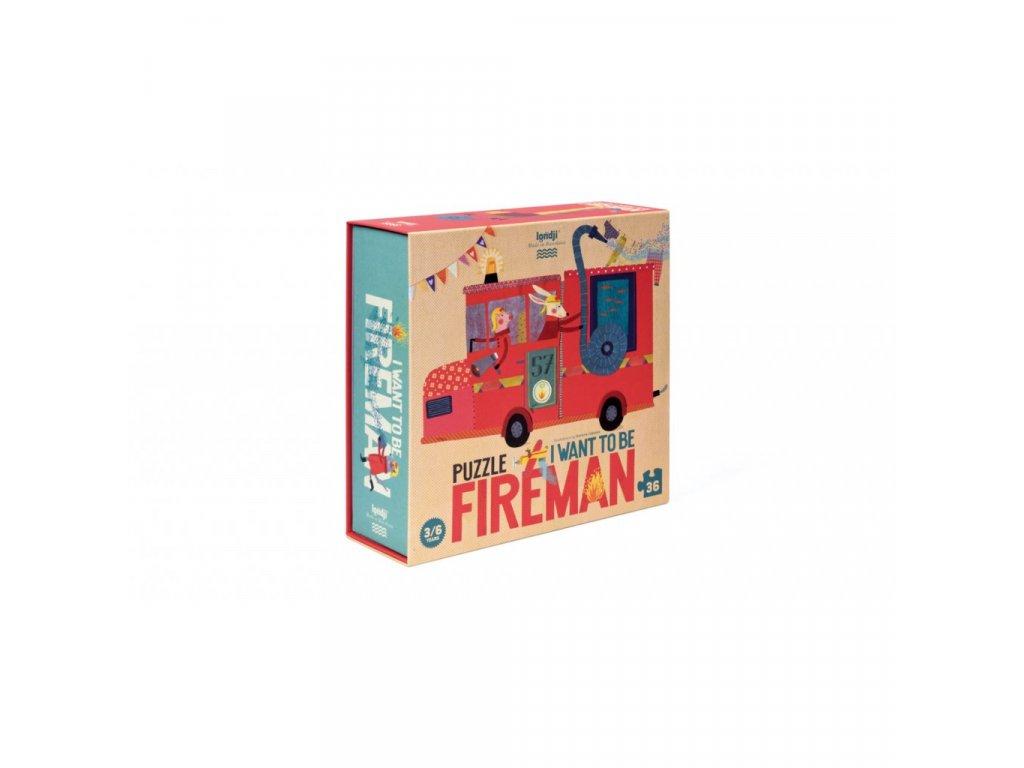 Puzze Chci být hasičem