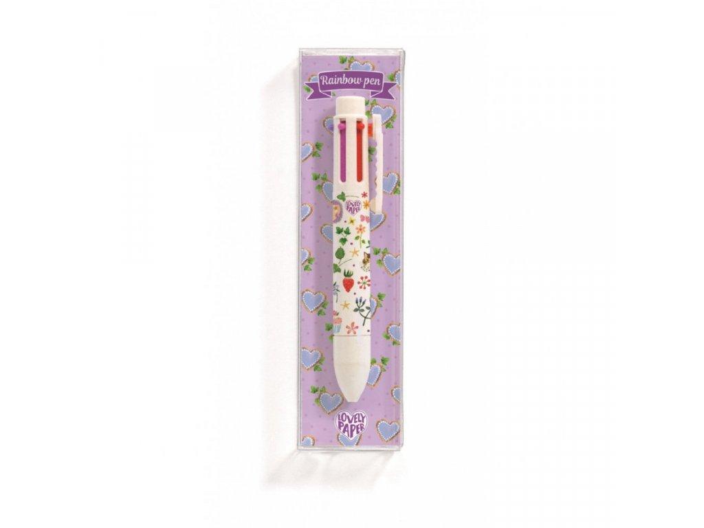 Duhové šestibarevné pero Aiko
