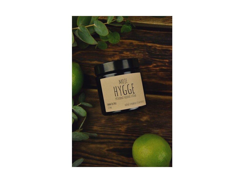 Moje Hygge Sójová svíčka 120 ml LEMON TEA TREE