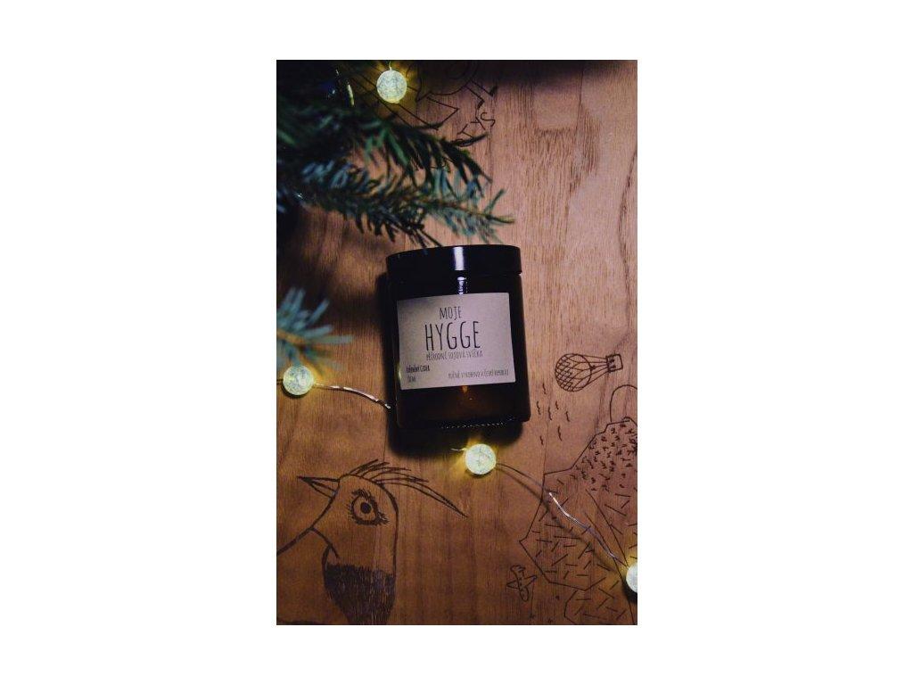 Moje Hygge Sójová svíčka 180 ml KOŘENĚNÝ CIDER