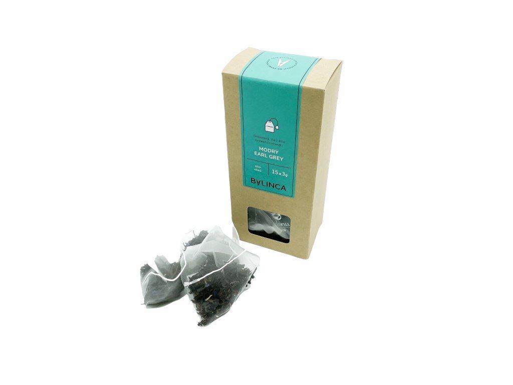 Ochucený čaj BIO - Modrý Earl Grey 15x3g
