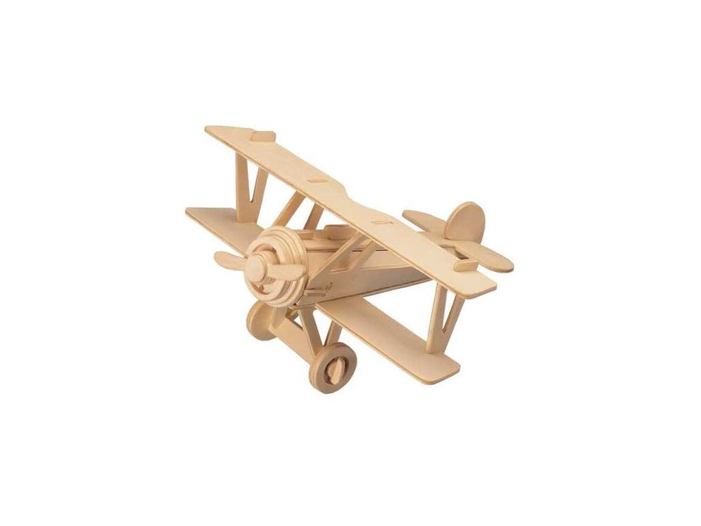 Woodcraft Dřevěné 3D puzzle dvouplošník