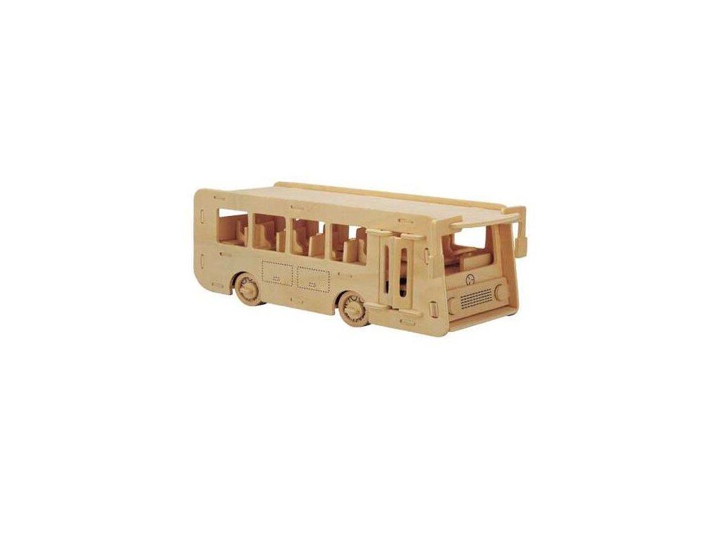 Woodcraft Dřevěné 3D puzzle autobus