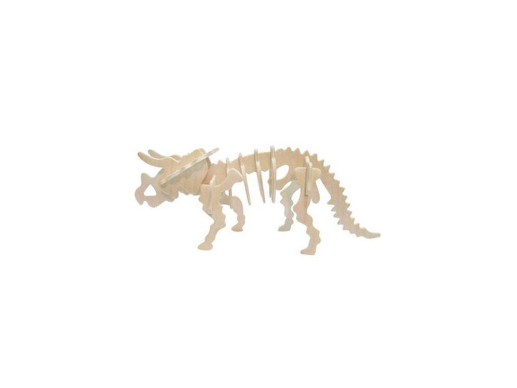 Woodcraft Dřevěné 3D puzzle Triceratops velký