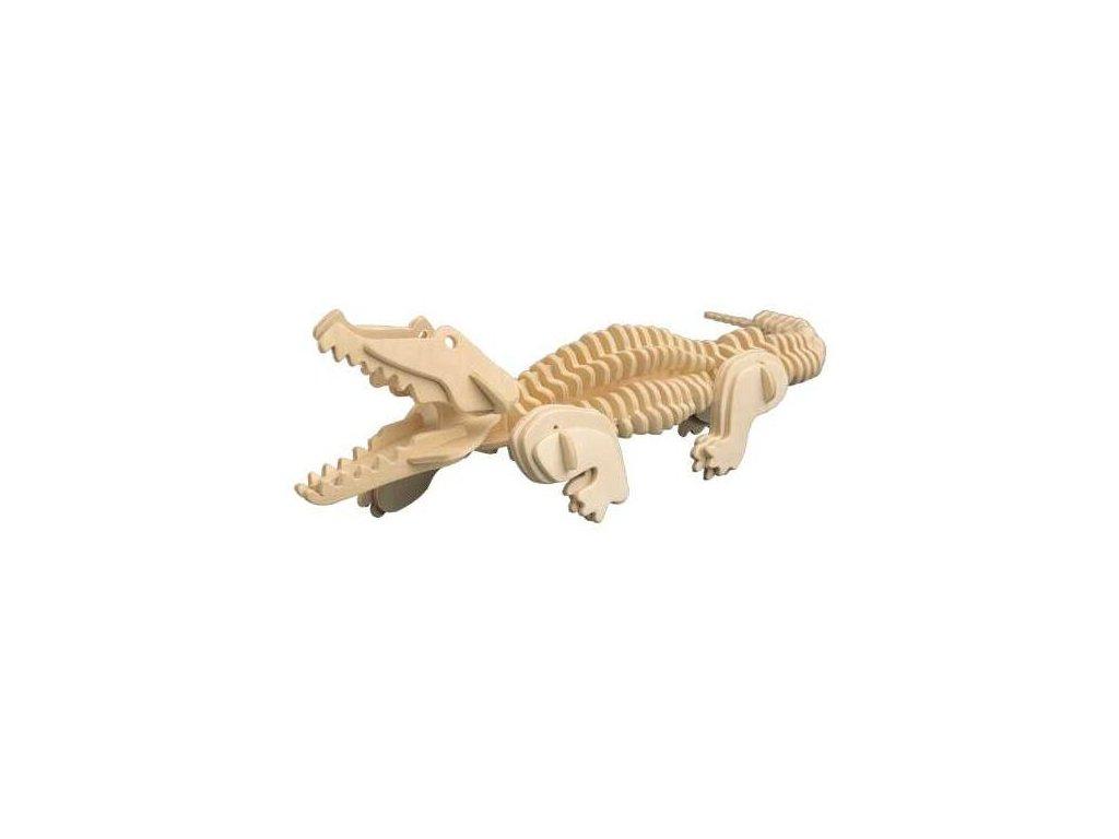 Woodcraft Dřevěné 3D puzzle krokodýl
