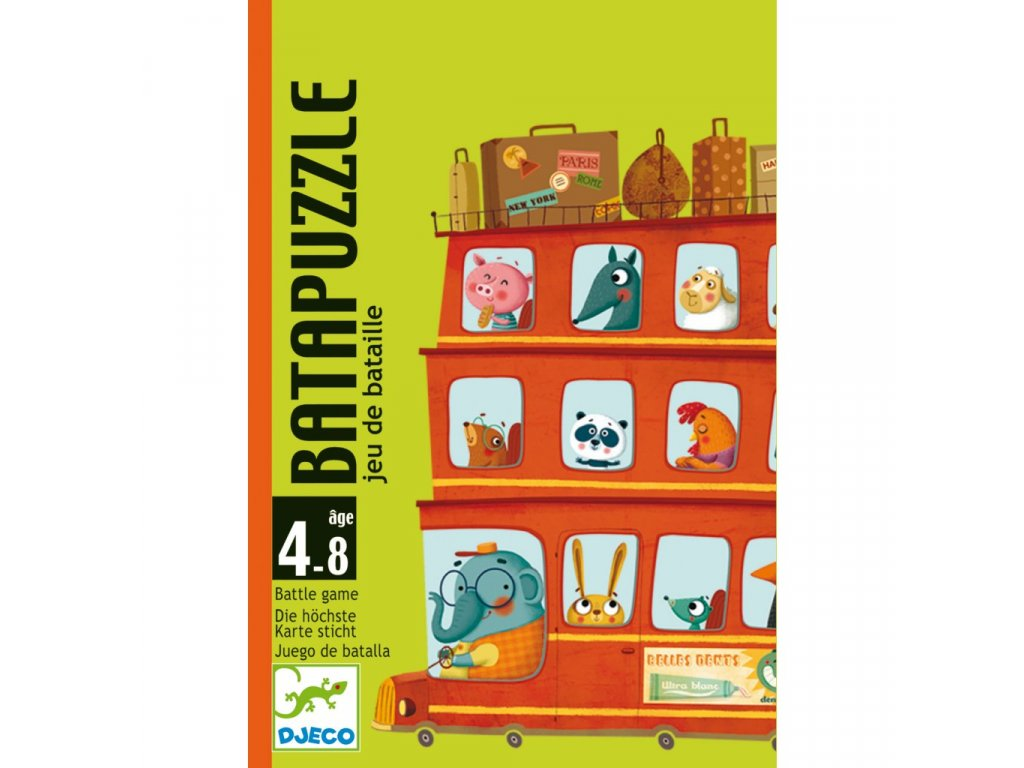 Zábavná karetní hra BataPuzzle