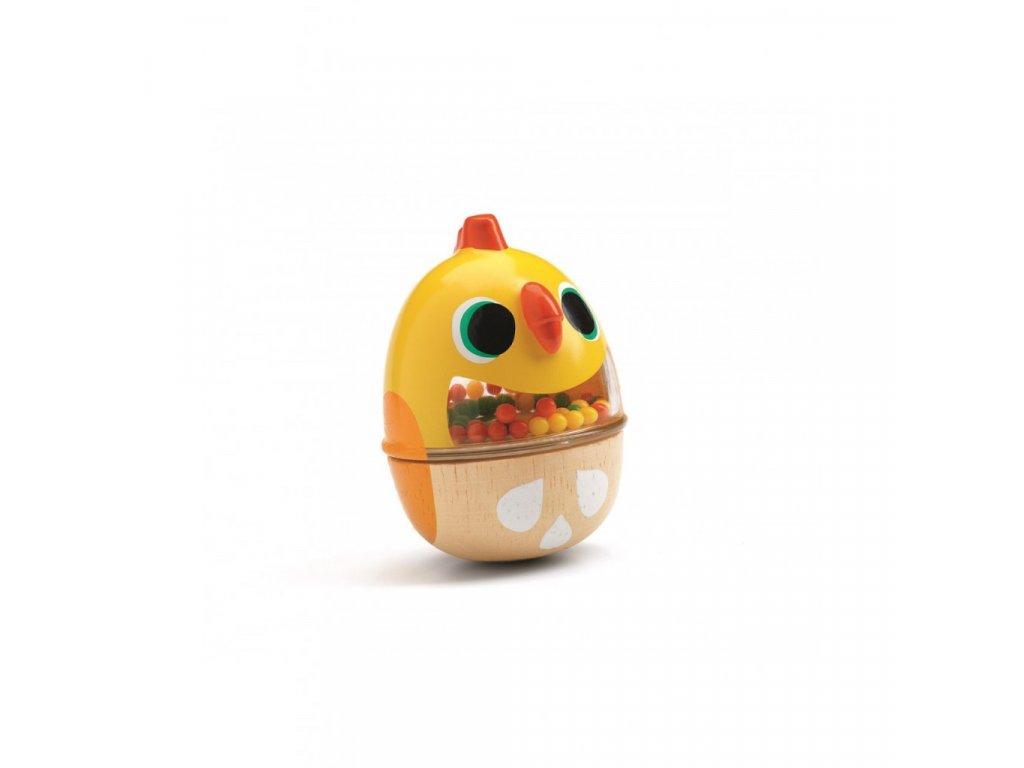 Chrastící kuřátko žluté