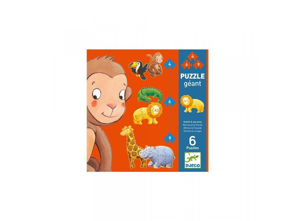 Puzzle gigant  - Kamarádi z Jungle