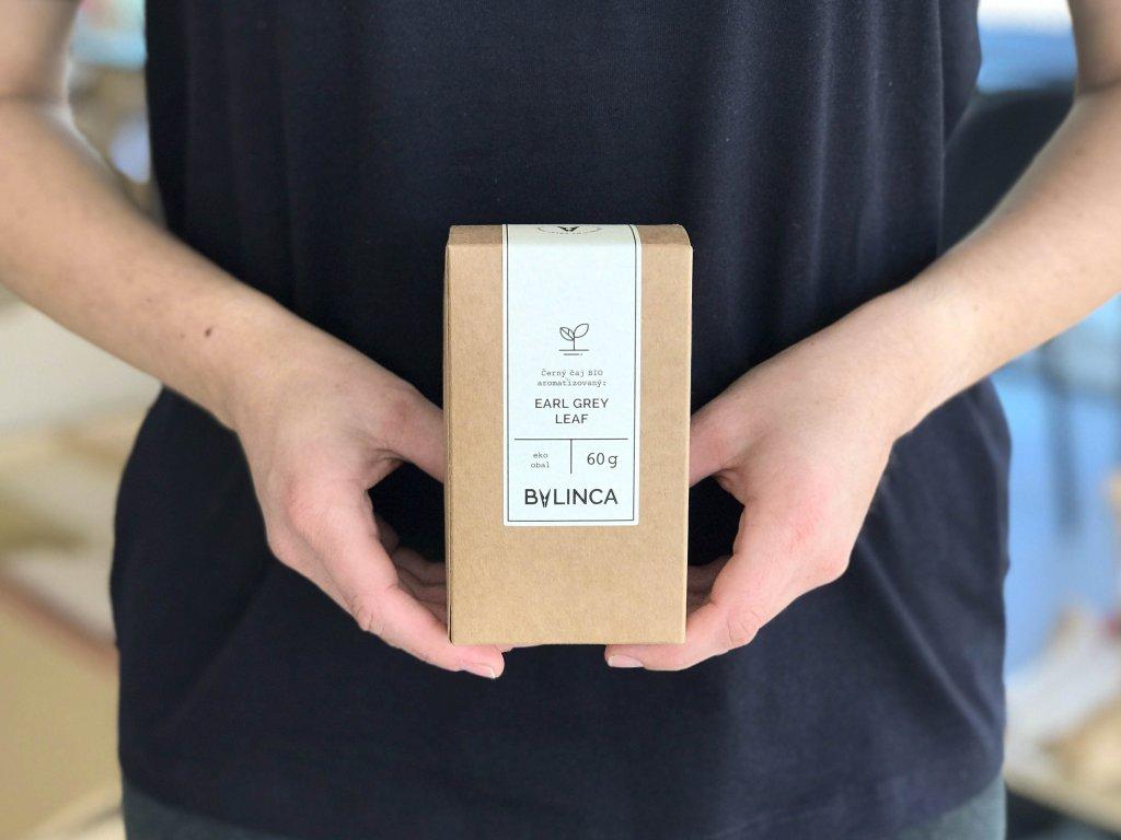 Černý čaj Earl Grey Leaf BIO 60G aromatizovaný