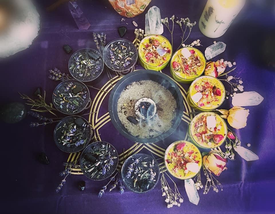Magické bylinkové sviečky