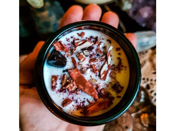 Čajová sviečka kvietok - biela šalvia, céder
